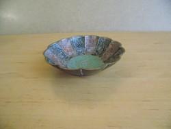 Festett réz tálka 12,5 cm (24/d)