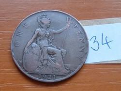 ANGLIA ANGOL 1 PENNY 1921 34.