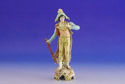 0I027 Antik SCHWARZA-SAALBAHN porcelán figura