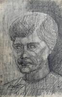 Kmetty János : Szén ,grafika vázlat. Mérete:35x50 cm