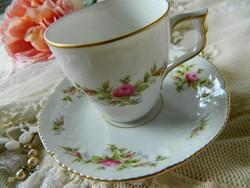 Szépséges Rosenthal  Classic mokkás szett, csésze, kistányér, rózsa