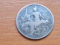FRANCIA 5 CENTIMES 1911 #