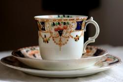Angol Longton csontporcelán teás reggeliző szett