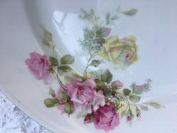 Szépséges oepiag rózsamintás kerek kínáló, tálaló