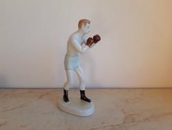 Hollóházi porcelán boxoló sportoló