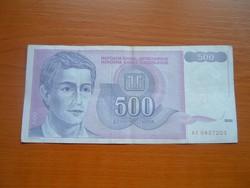 JUGOSZLÁVIA 500 DINÁR 1992 AE, FIATAL FÉRFI #