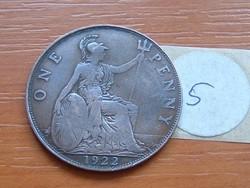 ANGLIA ANGOL 1 PENNY 1922 5.