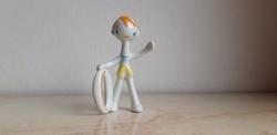 Hollóházi porcelán art deco peti karikás fiú