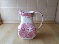 Angol Wedgwood pink porcelán kancsó kiöntő 5 dl