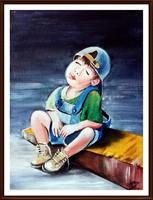 Czinóber - Álom, álom, édes álom...( 18 x 24, olaj )