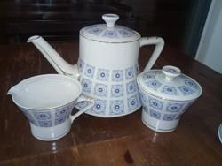 Hollóházi porcelán teáskészlet 6 fős