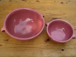 Rózsaszín ZSOLNAY tálak