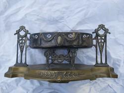 Jugendstíl antik kínáló, asztalközép.