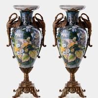 Dekoratív hattyús váza ♡♡ párban ☆☆☆☆☆