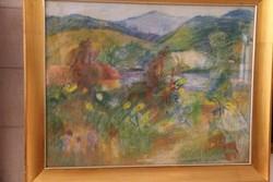 Molnár Róza - Nagybányai hegyoldal