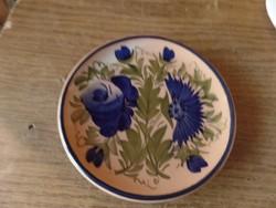 Kis kerámia tányér búza virággal