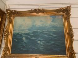 Áralat elado csodálatos viharos tenger Zorád Geza alkotása gyüjtöi darab