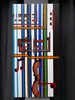 Akkordok - 3D vászon akril festmény