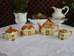 Angol ház forma gyűjtői kanna, cukortartó , kiöntő , vajtartó
