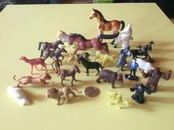 Retró trafikáru játék műanyag figurák állatok