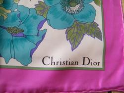 Nagyon szép, retro Christian Dior selyemkendő, sál