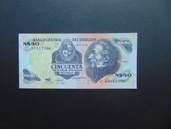 50 peso 1988 Uruguay Szép ropogós bankjegy