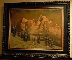Tordai Székely Mihály (1890 - 1940) festménye - Magas Tátra télen, eredeti, szignált!