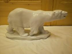 Herendi porcelán fehér jegesmedve figura