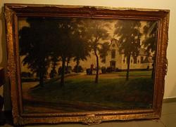 Victor Gilsoul (1867 - 1939)  Körmenet -, Belga festőművész olajfestménye, eredeti, szignált.