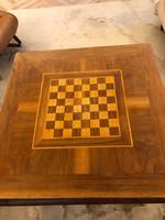 Eredeti francia art deco bővíthető sakk/étkező asztal eladó. 80x80x70cm