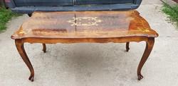 Makulátlan barokk intarziás dohányzó asztal
