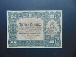 10000 korona 1920 C 37 Nagy méretű bankjegy