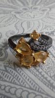 Citrin 925 gyűrű (54)