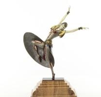 """""""Alméria """"bronz szobor -táncos nő-márványtalp"""