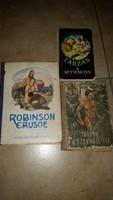 Robinson Crusoe,Tarzan a Dzsungel fia, Tarzan a rettenetes könyv eladó!