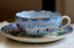 Sarreguemines Digoin francia fajansz teás szett