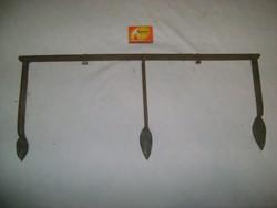 Régi kovácsoltvas sorhúzó - mezőgazdasági eszköz