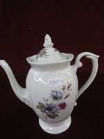 CHODZIEZ lengyel porcelán kávéskészlet, 14 darabos. Pink/kék virágcsokorral díszítve.