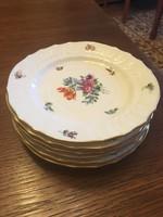 Herendi virágmintás 6 db süteményes tányér