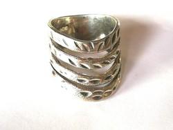 Tömör ezüst gyűrű