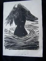 Magyar művész XX.sz.közepe: Fürdőző nő