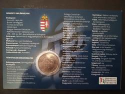 Nemzeti történelmi emlékhely 50 forintos érme első napi veret bliszter díszcsomagolás 2015