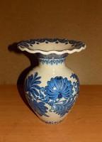 Jelzett majolika váza Hódmezővásárhely Kincses István 23,5 cm