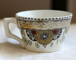 KG Luneville Demi-Porcelaine Nankin mintás bisztró fajansz kávés csésze