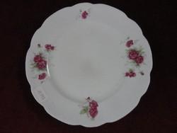 CMIELOW lengyel süteményes tányér, rózsa mintával.