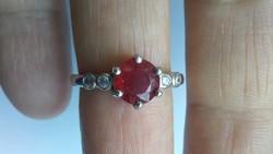 Rubin 925 gyűrű (58)
