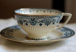 Extrém ritka Sarreguemines teás csésze szett
