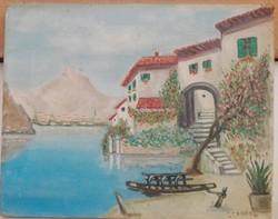 Táj mediterrán házzal