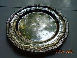Barokk ezüstözött tálca