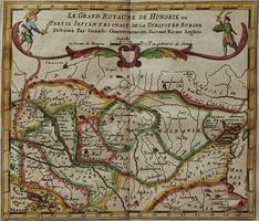 Kis méretű rézmetszet Magyarország és szomszédos területekről,Románia, Moldova, Szerbia és Bosznia